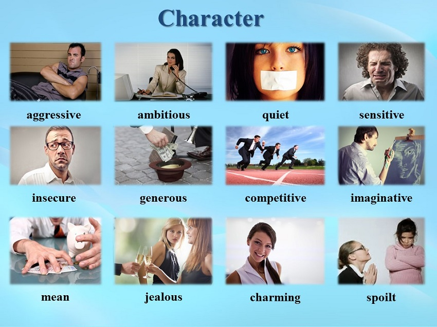 english personalities A look at the personality and character of the english people of great britain great britain notes the english national character is dualistic: one aspect is conservative, the other extroverted.